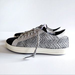 John Tartan Silver Metallic Sneaker 37